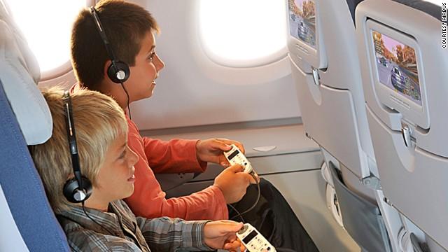 gamen-in-vliegtuig