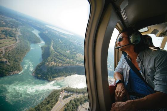 Niagara Falls vanuit een helikopter