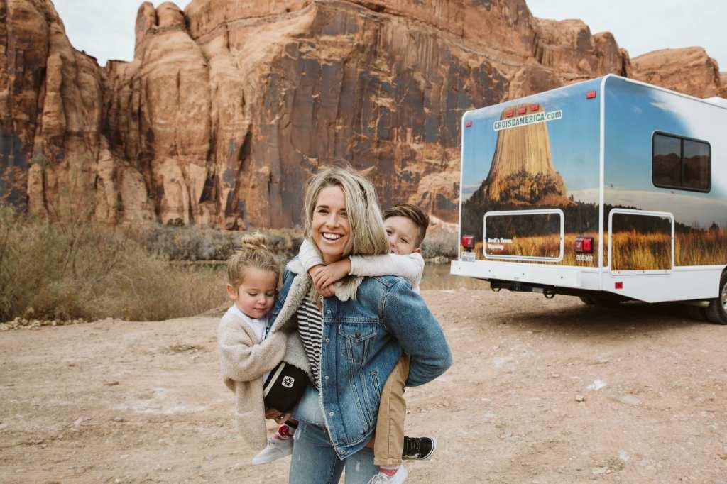 Cruise America camper met kinderen